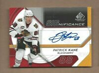2008-09 SP Game Used hockey card Patrick Kane signed Chicago Blackhawks 04/50