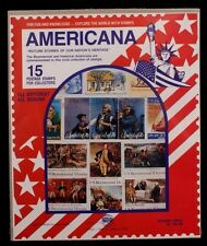 Americana 15 Used Stamps Pictures of Our Nation's Heritage Harris Stamp Packet