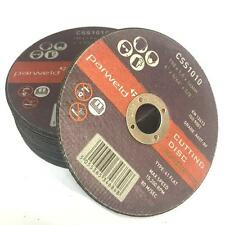 """(PACK OF 10) Parweld (4"""") 100mm x 1mm Thin stainless steel metal cutting discs"""