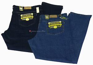 Jeans Uomo pantalone 5 tasche denim elasticizzato Taglie Forti 62 64 66 68 70 72