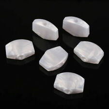 6 x Pearl White Acrylic Buttons Pegs for Guitar Tuner Machine Heads Tuning Keys