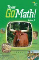 Go Math Texas Grade 1 Teacher Edition Set All Chapters 1st 2015