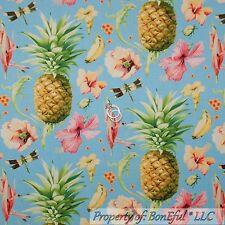 BonEful Fabric FQ Cotton Quilt Pineapple Hawaii Flower Tropical Fruit Paradise L