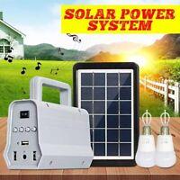 Portable Power Station Solar Panel  Inverter Generator Speaker Emergency Battery
