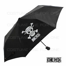 One Piece Black Compact Folding Cosplay Umbrella Waterproof