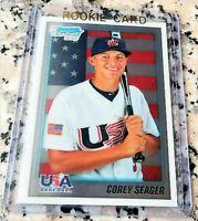 COREY SEAGER 2010 Bowman CHROME #1 Draft Rookie Card RC LA Dodgers NLCS MVP HOT