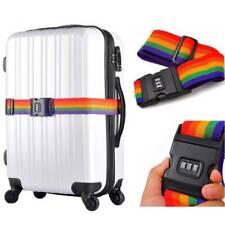 Luggage Cross Strap 200CM Adjustable Travel Suitcase Nylon 3Digits Password Lock