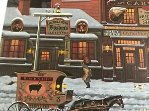 Charles Wysocki Bostonians and Beans Signed Lithograph Unframed 2119/6711