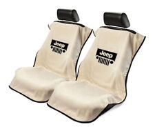 Seat Armour 2 Piece Front Car Seat Covers For Jeep with Grille - Tan Terry Cloth