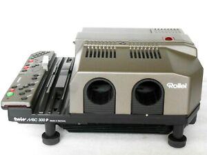 Rolleivision Double Msc P-300 Überblend-diaprojektör #Défectueux#