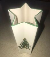 Vintage SPODE Christmas Tree Vase Star Shape Holly Made In England S3324-A1