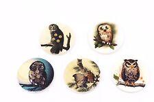 Owl Wood Button 30mm 50pcs
