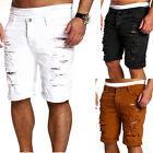 Men Stylish Ripped Jeans Pants Biker Skinny Slim Straight Denim Trousers Shorts