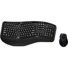 Adesso Tru-Form Media 1500 - Wireless Ergonomic Keyboard and Laser Mouse