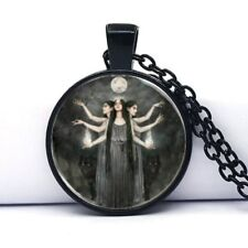 Triple Goddess Hecate necklace Pendant + gift  Box - Wicca Pentagram Witchcraft