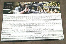 Magpul 2018 Accessories Poster Magazines and Pmag, sights, other parts pictured