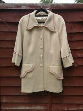 Sz 10 Ladies TRUE VINTAGE 100% WOOL SWING Coat MADE IN ENGLAND