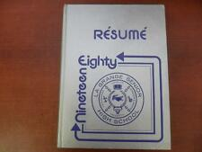 YEARBOOK: Resume 1980, LaGrange Sr. High School, Lake Charles, Louisiana