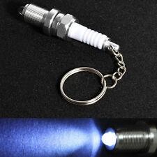 Fashion LED Key Chain Spark Plug Key Chain silver Keychain Car Parts Keyring