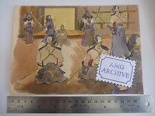 Il GIAPPONE PERIODO Kendo originale opera d'arte di Slade artista Harold Duca Collison-Morley