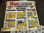 2000 PITTSBURGH PIRATES COORS LIGHT HUGE 48X48 SCHEDULE PLASTIC SIGN