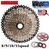 SUNSHINE 6/7/8/9/10/11Speed MTB Bike Cassette11-40/42/46/50 KMC Chain Derailleur