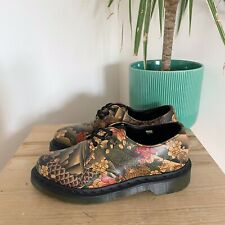 DR MARTENS 1461 JAPANESE TATTOO LEATHER SHOES 3 LO KOI LACE UP BEIGE BROWN BOOTS