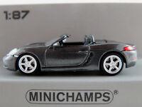 Minichamps 870 065131 Porsche 718 Boxster (2016) in graumet. 1:87/H0 NEU/OVP