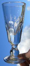 verre à absinthe / mazagran en verre taillé. XIXe s. Haut. 18 cm