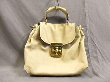 Authentic Chloe Beige Elsie Leather Handbag w/ Shoulder Strap