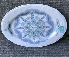 Sigrid Olsen White Oval Melamine Serving Tray Platter Dish Seashell Sand Dollar
