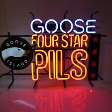GOOSE ISLAND BEER FOUR STAR PILS CHICAGO, IL NEON LIT SIGN SPECTACULAR