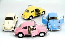 "4PC SET: 5"" Kinsmart 1967 VW Volkswagen Beetle Diecast Model Toy Car 1:32 Pastel"