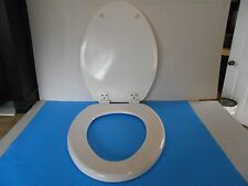 "*PROPLUS ELONGATED 17 1/2"" WHITE MOLDED WOOD TOILET SEAT"