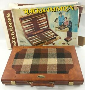 """Vintage """"Jacques"""" Carry Cased Backgammon Set - All Complete in unused condition"""