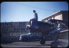Pretty Military/CAP? & Costume Girls Ride Airplane Parade Vtg 1950s Slide Photo