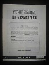 SUZUKI DR-Z125K8 / LK8 Set Up Manual DR Z1000 K8 99505-01038-01E Motorcycle