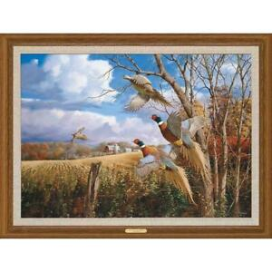 David A Maass October Memories Pheasants Premier Giclee Canvas Print Ltd Edition