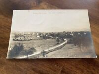 ANTIQUE RPPC BIRDS EYE VIEW OF SO. SHAFTSBURY, VT. POSTED 1914