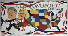 >1995 Clintonopoly Board Game - NEW (Bill & Hillary Clinton) MONOPOLY-like Game