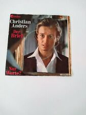 Christian Anders ' Der Brief -Vinyl Record -  Chranders Record