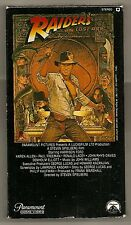 RAIDERS OF THE LOST ARK 1981 1ST VHS VIDEO RELEASE 1982 W/TEMPLE OF DOOM TRAILER