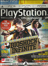 PLAY STATION  OFFICIAL MAGAZINE, 2013 UK  ( WORLD EXCLUSIVE BIOSHOCK INFINITE  )