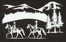 GAITED HORSE TRAIL SCENE VINYL DECAL, STICKER