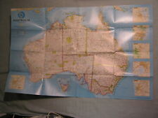AUSTRALIA WALL MAP + AUSTRALIA UNDER SIEGE National Geographic July 2000 MINT
