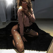 Women Hollow Out Lace Stockings Sexy Colorful Crystal Fishnet Clubwear Pantyhose