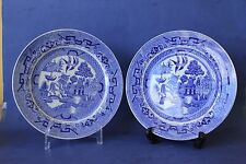 Antique Vintage Ridgways Blue Willow Side plates. 100 Years old.