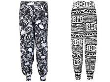 Nueva camiseta para mujer Alí Babá Harén Pantalones Bombachos Pantalones Leggings Señoras Impreso Talla 8-26