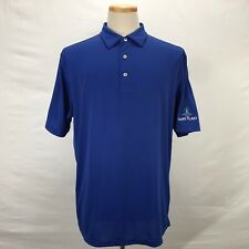 Peter Millar Summer Comfort THE HAIRY PLANT Logo Blue Golf Polo Shirt Men's XL