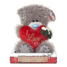"Me To You Tatty Teddy Collectors 7"" Christmas Plush Bear - I Love You Heart"